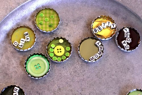 "DIY bottle cap magnet... this link is entitled "" ...Fail""...However, if you use a bit of resin or even some white glue over the bottom it will dry clear and hold all the contents fast inside."
