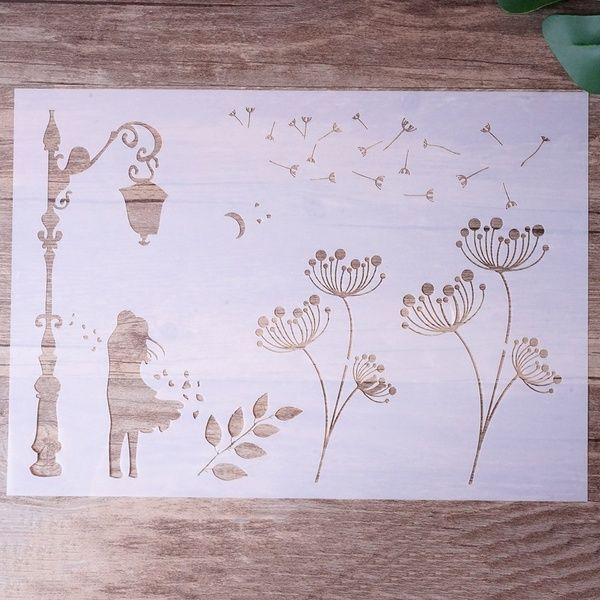 Craft Layering Flower Stencils Wall Painting Scrapbooking Embossing Paper Cards