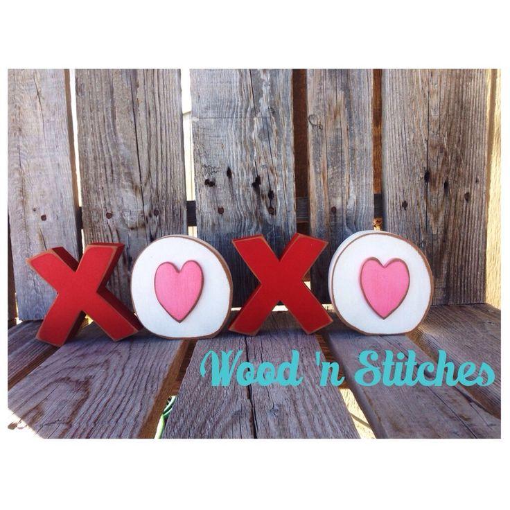 Valentine Xoxo Love Wood Blocks Valentine Heart Seasonal