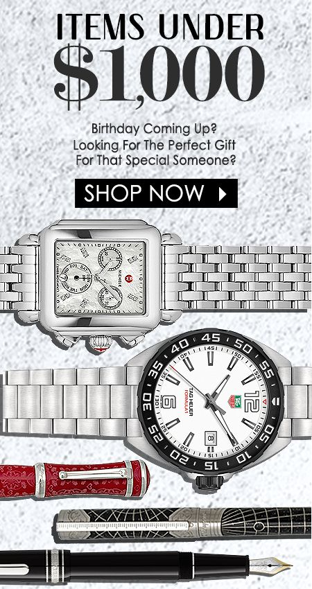 Find The Best Price On Luxury Fashion Watches & High-End Accessories | Breitling | Rolex | TAG Heuer | Panerai | Omega | MontBlanc | Oris | Montegrappa