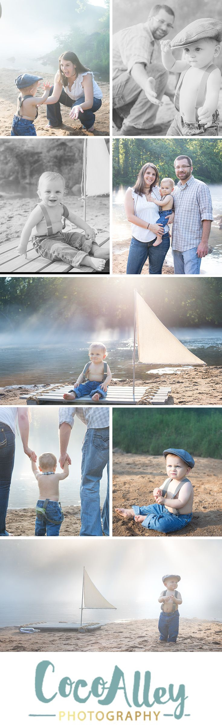 Nautical photo shoot for one year old | one year picture ideas | beautiful light | outdoor family portraits | celebrating1 year old | lakeside