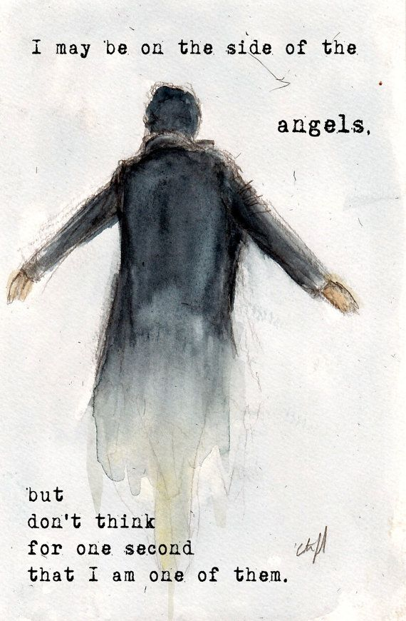 "Etsy : NEW ""Side of the Angels"" BBC Sherlock ""The Fall"" The Reichenbach Fall Art 5x7"" Print Variant : $8.00"