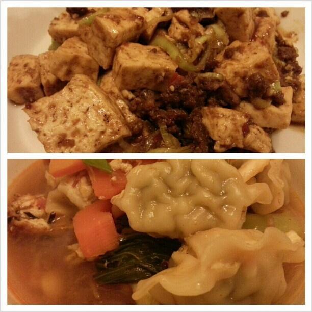 今日は辛い#晩ごはん の日。 #麻婆豆腐 #餃子#チゲ鍋 #spicy #night #mapotofu and #korean #hot #soup w/ #gyouza for.#dinner#yummy#delicious#korean#chinese#japanese#dish#cook#cooking#yum#food#philippines#フィリピン#ディナー