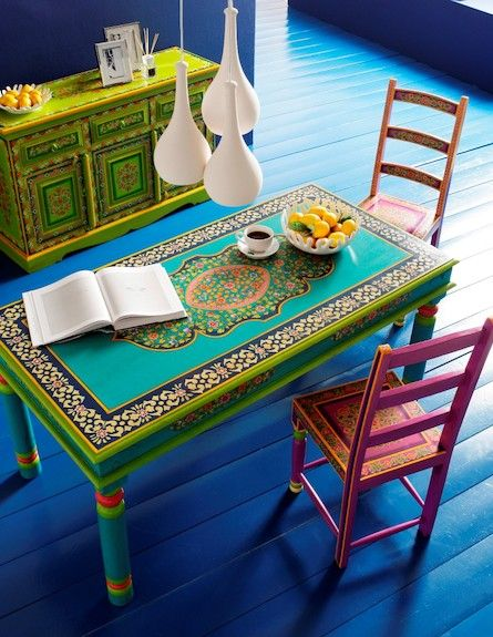 Table has a Talavera tile look to it!