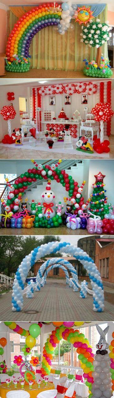 Оформление детского праздника воздушными шарами |