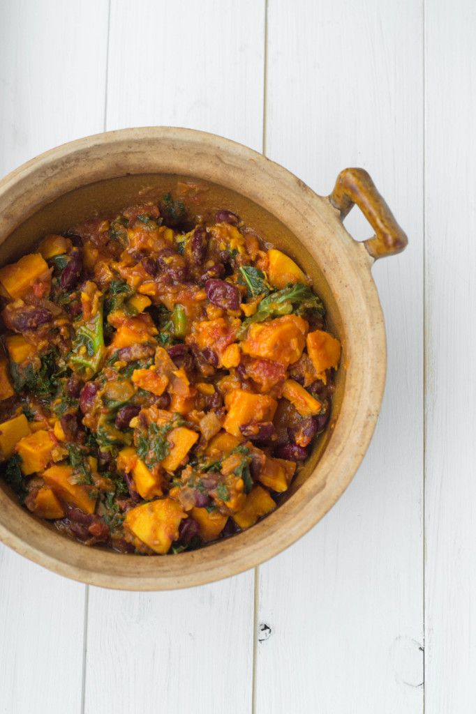 Sweet Potato & Kale Chilli {Vegan}