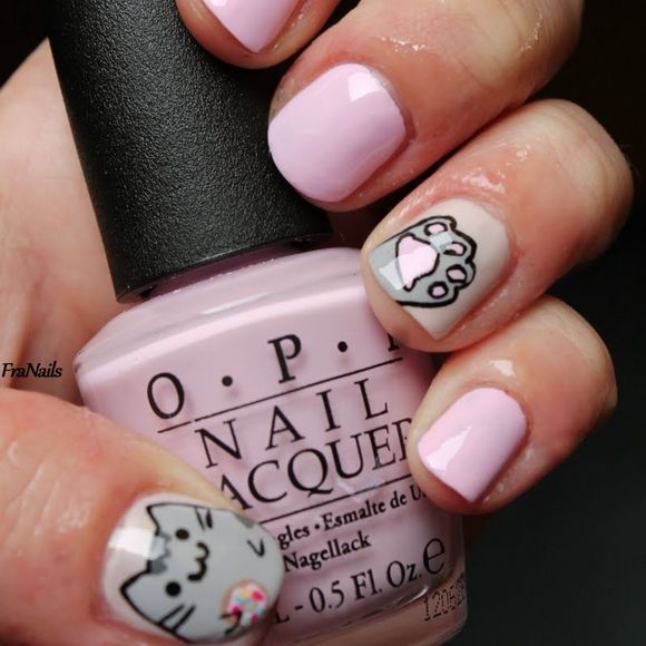 +40+Kitty+Cat+Nail+Designs - The 25+ Best Cat Nail Designs Ideas On Pinterest Cat Nails, Cat