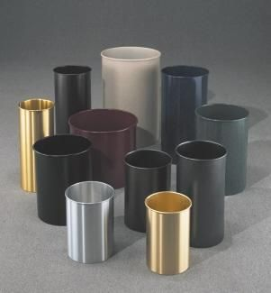 Aluminum Trash Cans  Garbage Can Containers outdoor indoor trash cans recycle bins ashtrays for commercial office or home 28 best Decorative images on Pinterest Recycling