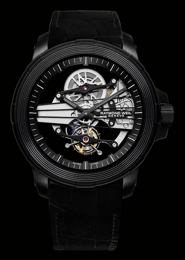 Introducing the Raymond Weil's Nabucco Cello Tourbillon, which is the brand's first tourbillon-type timepiece. The watch is offered in a limited edition of 10 pieces, and it retails at 39,000 Swiss francs.