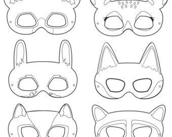 Leather Mask Pattern Google Search Printable Animal