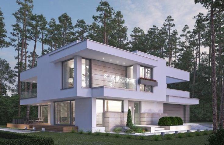 Nowoczesny piętrowy dom z dwustanowiskowym garażem