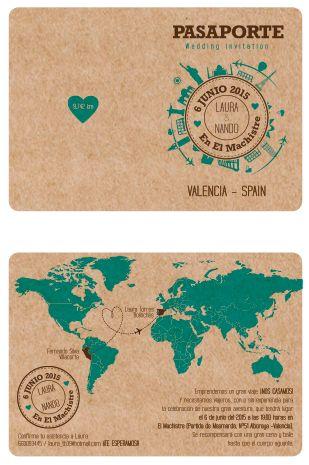 Invitación modelo Pasaporte para nuestra boda!  Diseñado por mi maravilloso novio :)