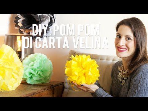 DIY: Pom pom di carta velina - Tissue pom poms diy - YouTube