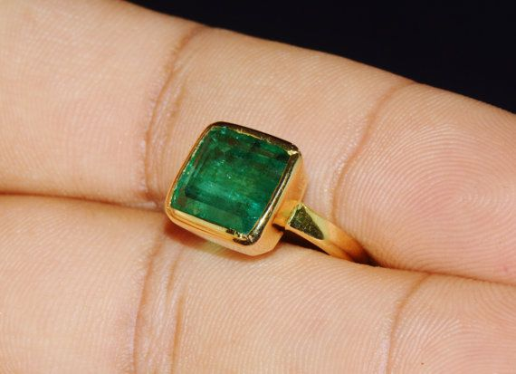 Emerald Ring  Zambian Emerald  Certified Top Quality by exoticgold