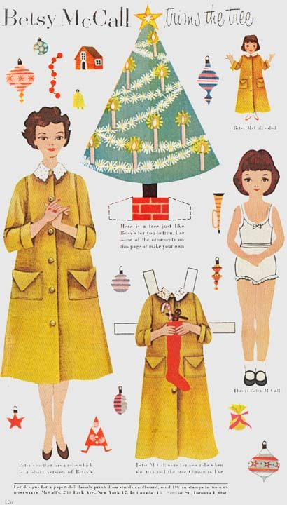 Betsy McCall, paper dolls - I loved these - cut them out from the magazine and had a big box I played with endlessly.