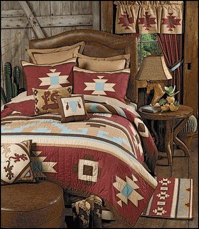 american indian bedspread | Southwestern - American Indian - mexican rustic style - wolf theme ...