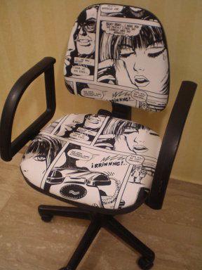 Tapizado de silla de escritorio mobiliario pinterest tapizado de sillas tapizado y - Funda silla escritorio ...