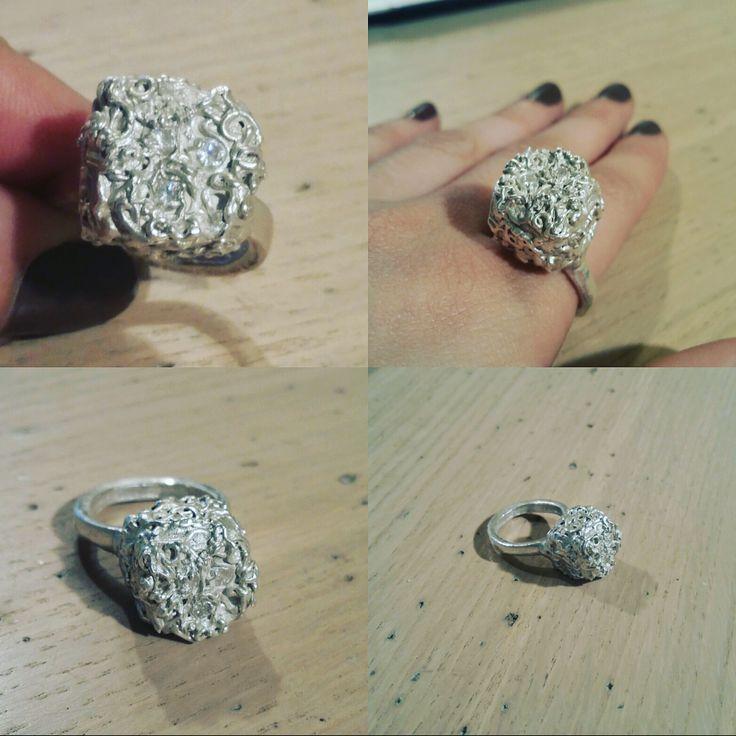 Anello in argento 950 fatto a mano