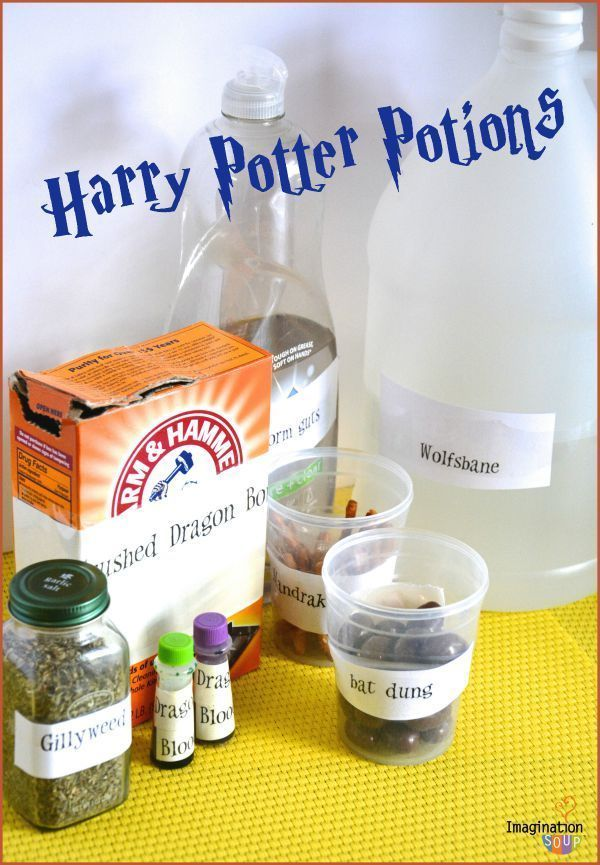 EASY & FUN Harry Potter Potions Class Experiments - sounds like the best indoor kids activity ever!!
