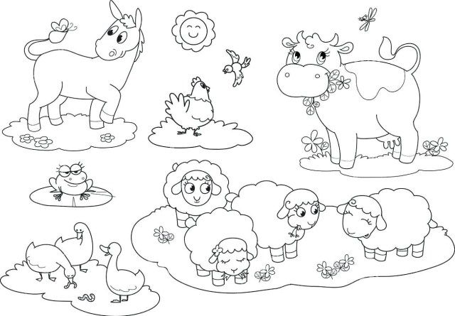 25 Inspiration Picture Of Farm Animals Coloring Pages Albanysinsanity Com Farm Animal Coloring Pages Farm Animals Pictures Animal Coloring Pages