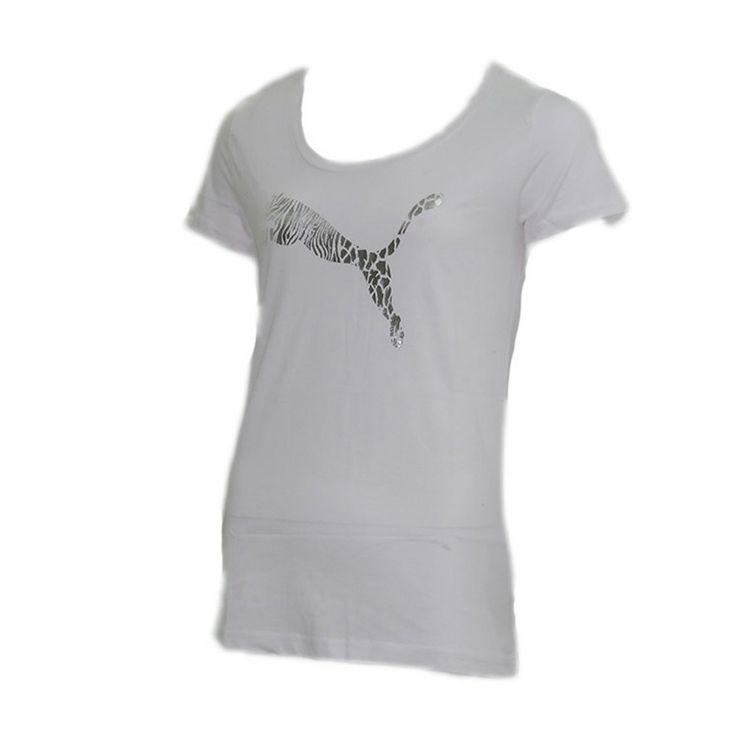 Γυναικείο T-shirt με το logo της Puma στο κέντρο.Αποτελείται από 100% βαμβάκι.Με πολύ άνετη εφαρμογή ιδανικό για κάθε μέρα.