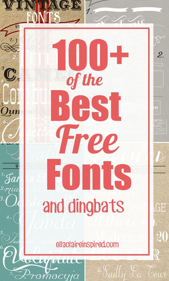 100+ of the Best Free Font Downloads gathered from around the web. These are FABULOUS. shared on Ella Claire