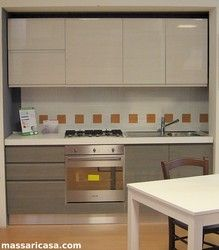 Cucina Gola moderna bianco e grigio