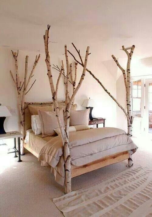 Sort of like a bedroom in a tree house. Branch bed