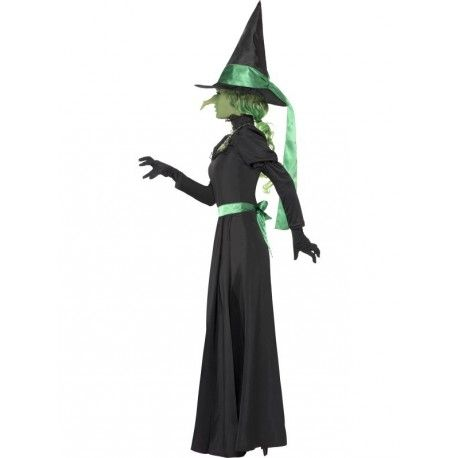 Disfraz de Bruja Mala del Oeste (Wicked Witch) para mujer para Halloween. Women's Wicked Witch costume for Halloween
