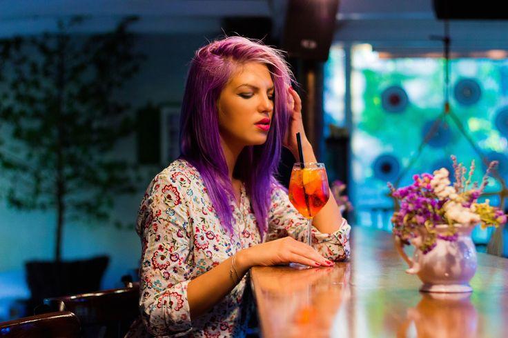 Miriamrebellee crazy purple hair