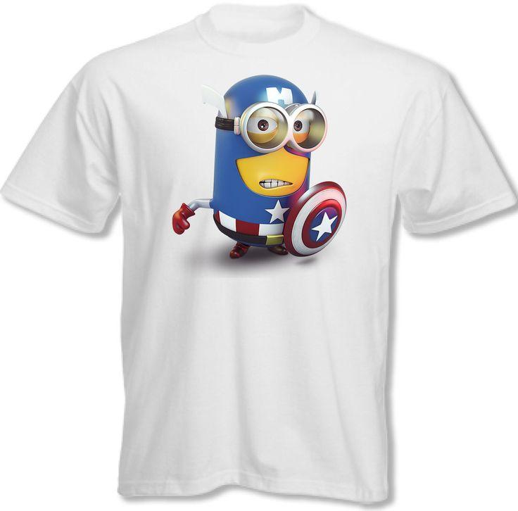 Captain America Mens Funny Minion PARODY T Shirt Minions | eBay