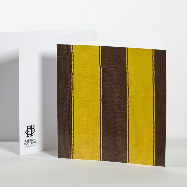 Fabric of Football_Brown and Yellow Stripes Greeting Card.jpg