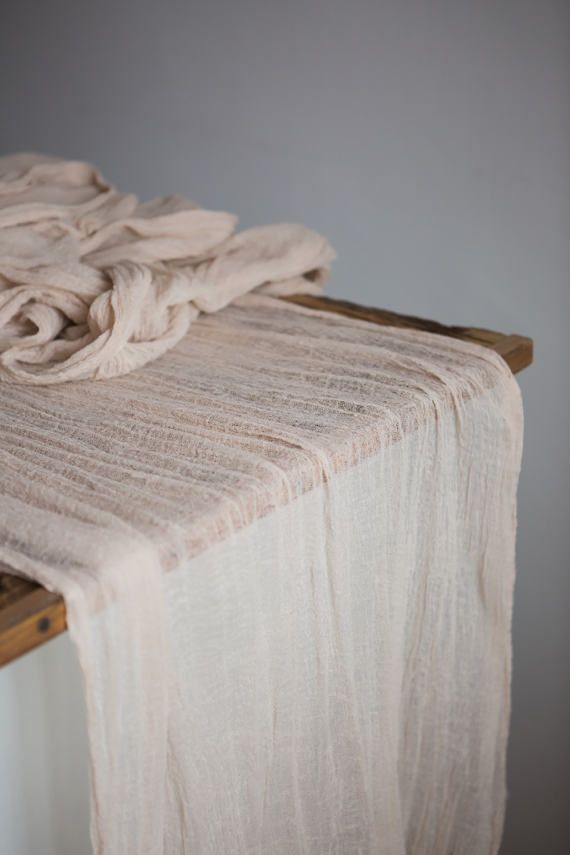 Sand Gauze Runner for Weddings Special Events Centerpieces Runner, Cheese cloth Runner, Table Hand Dyed runner, Cotton Scrim, Cheesecloth