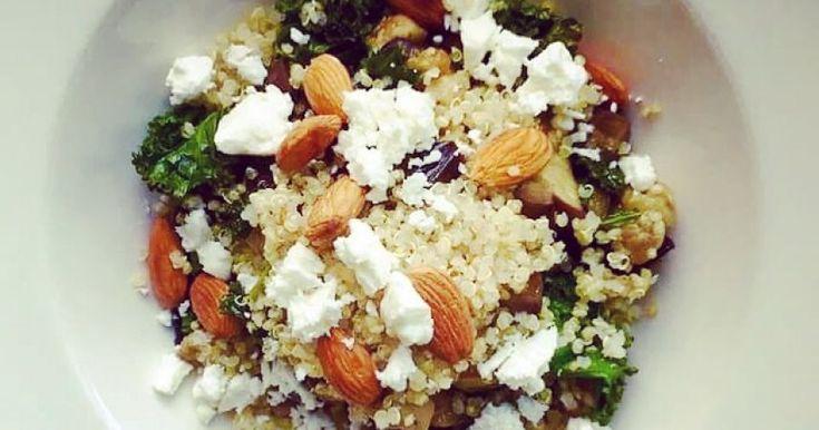 Kujeileva kvinoasalaatti on keveän ruokaisa ja luontaisesti gluteeniton. Kvinoassa on myös puolet enemmän proteiinia kuin riisissä.