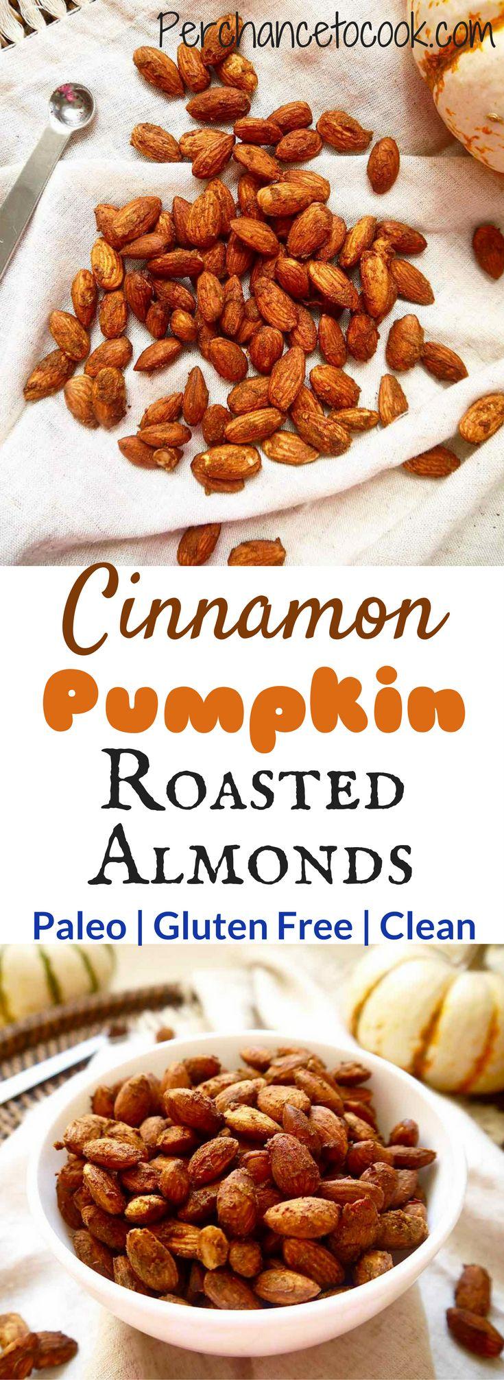 Cinnamon Pumpkin Roasted Almonds {Paleo, GF} | Perchance to Cook, www.perchancetocook.com