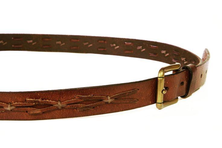 Mens Real Leather Belt, Brown Braid Leather Belt, Genuine Leather Belt, Brass Metal Buckle, Woven Leather Belt, South Western Cowboy Belt, Size 44/110, Mens Gifts, Vintage Belt For Men, Mens Accessories, Mens Wide Belt, Brown Leather Belt, Braided Leather, Cowboy Accessories, Casual