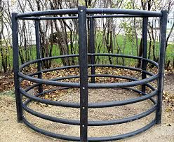Image result for pvc pipe round bale feeder