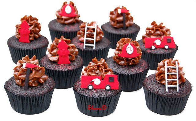 Fire Truck Cupcakes by ~Très Chic Cupcakes by ShamsD~, via Flickr