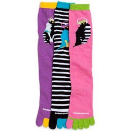 Amazon.com: Littlemissmatched Rocking Penguins Toe Socks:
