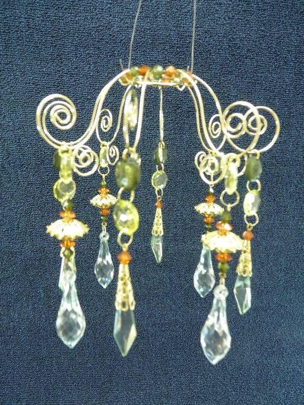 Dept 56 Beaded Crystal  Bangle Lamp Shade Accent  #56.49538  NIP  6   (a3370)