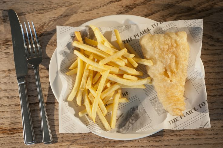 The Beach Deck Fresh Battered, w/ skinny fries Haddock: 5.50,