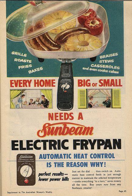 Sunbeam Electric Frypan by glen.h, via Flickr