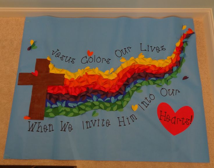 Checkout this great post on Bulletin Board Ideas!jesus board