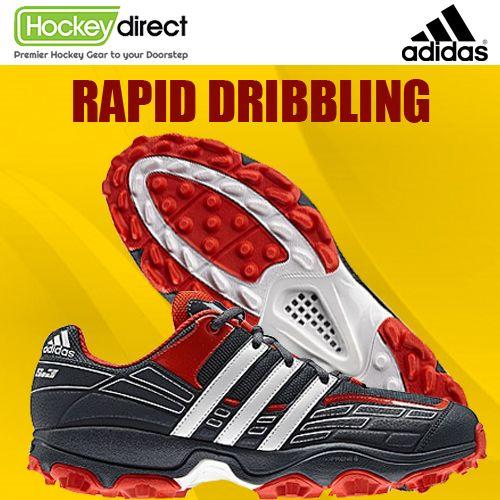 Adidas Adistar S3 #Hockey Shoe: Lighter than ever with mesh ventilation, mid-foot & heel support. Rapid dribbling & direction change/ #FieldHockey #sports
