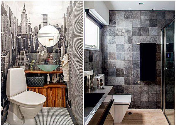 banheiro em preto e branco 2