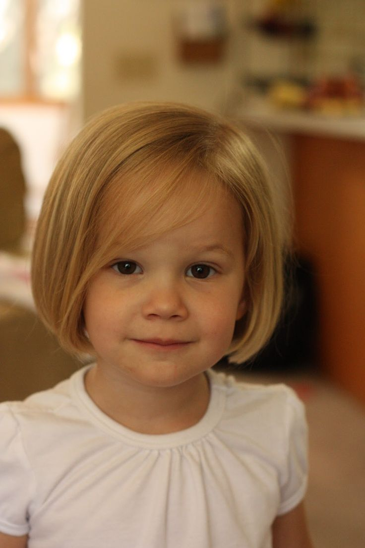 Cute toddler bob..(if she ever cuts her own hair and we are forced to bob it) Or her brother does it  :(........syd