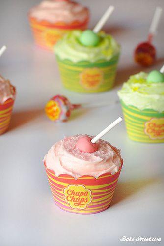Cupcakes de Chupa-Chups
