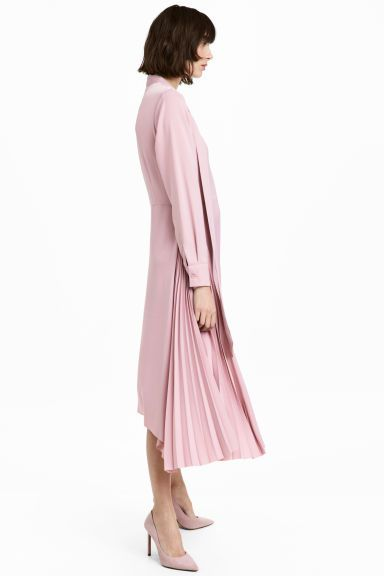Satin dress - Powder pink - Ladies | H&M