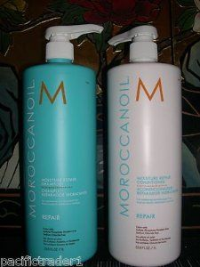 Moroccan Oil Shampoo and Conditioner Liter Duo's 33.8oz Moisture, Professional Quality