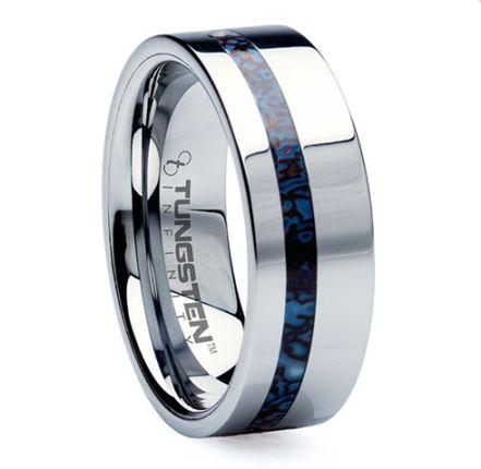 7 unique modern mens wedding rings made of bamboo antler meteorite and more - Meteorite Wedding Ring